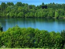 Lago en bosque Imagen de archivo libre de regalías