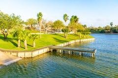 Lago en Brownsville, Tejas foto de archivo libre de regalías