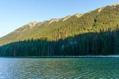 Lago en Columbia Británica, Canadá Duffey en el tiempo del día Imagen de archivo