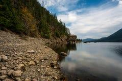 Lago en el agua baja imagen de archivo libre de regalías