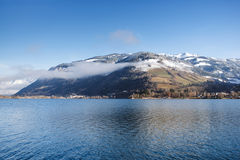 Lago en el invierno Fotografía de archivo libre de regalías