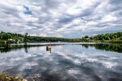 Lago en el norte del estado NY Imagen de archivo libre de regalías