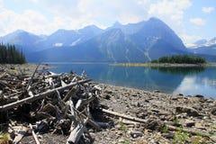 Lago en el país de Kananaskis - Alberta - Canadá Imágenes de archivo libres de regalías