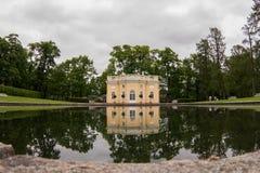 Lago en el Tsarskoye Selo imagen de archivo libre de regalías