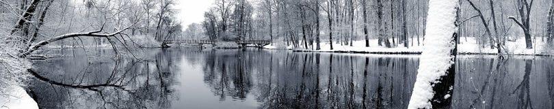 Lago en invierno Fotos de archivo