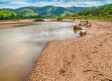 Lago en la colina Imagen de archivo libre de regalías