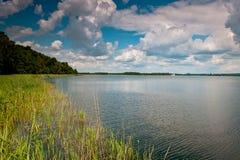 Lago en la imagen infrarroja de Poland Foto de archivo