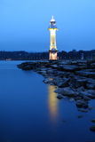 Lago en la noche Foto de archivo libre de regalías