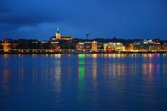 Lago en la noche Imagen de archivo libre de regalías