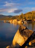 Lago en la puesta del sol Imagen de archivo