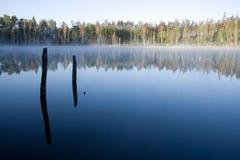 Lago en la salida del sol Foto de archivo libre de regalías