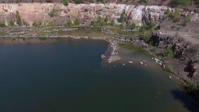 Lago en la visión aérea metrajes