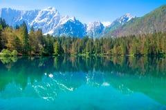 Lago en las montan@as, Italia Foto de archivo libre de regalías