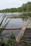 Lago en Lituania, año 2013 Imagen de archivo