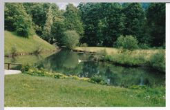 Lago en los argumentos del castillo Imagen de archivo