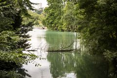 Lago en naturaleza Foto de archivo