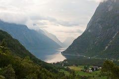 Lago en Noruega Imagenes de archivo