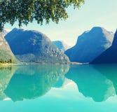 Lago en Noruega fotos de archivo libres de regalías