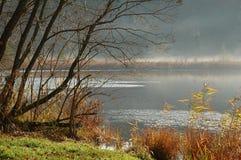 Lago en noviembre Imagen de archivo libre de regalías