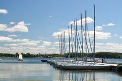 Lago en Olsztyn, Polonia Fotografía de archivo