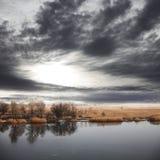 Lago en otoño fotografía de archivo libre de regalías