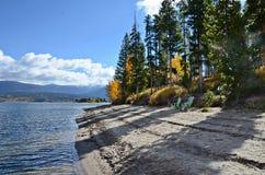 Lago en otoño, Colorado Granby fotografía de archivo