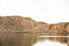Lago en roca Imágenes de archivo libres de regalías
