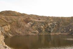 Lago en roca Imagen de archivo libre de regalías