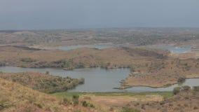 Lago en safari en Tanzania metrajes
