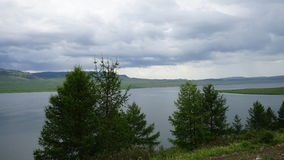 Lago en Siberia Imagen de archivo libre de regalías