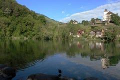 Lago en Suiza Fotos de archivo