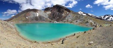 Lago en Tongariro fotos de archivo