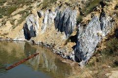 Lago en una mina de sal abandonada Foto de archivo