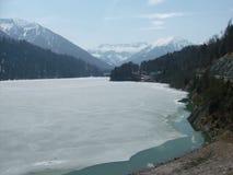 Lago en verano con las montañas Imagen de archivo