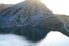 Lago Enol, Cangas de OnAss,西班牙 库存图片