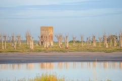 Lago Epecuén de la ciudad fotos de archivo libres de regalías