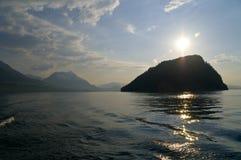 Lago Erbaspagna scenica Fotografia Stock