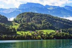 Lago Erbaspagna in Svizzera Immagine Stock Libera da Diritti