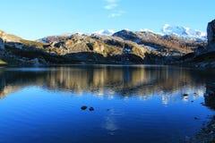 Lago Ercina, Cangas de OnAss,西班牙 图库摄影
