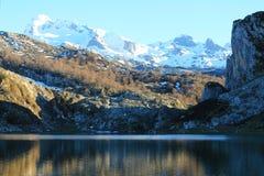 Lago Ercina, Cangas de OnÃs, Spanien Stockfoto