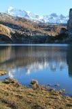 Lago Ercina, Cangas de OnÃs, Spanien Stockbild