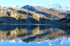 Lago Ercina, Cangas de OnÃs, Spanien Stockfotos
