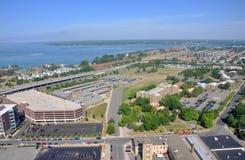 Lago Erie e città della Buffalo Fotografia Stock Libera da Diritti