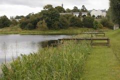 Lago Erne, camino de la reina Elizabeth 2, Enniskillen, Co Fermanagh, Imagen de archivo