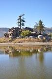 Lago escénico big Bear Fotos de archivo