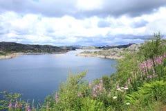 Lago escénico en Noruega Imagenes de archivo