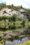 Lago escénico en Noruega Foto de archivo libre de regalías