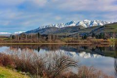 Lago escénico Hayes en Nueva Zelanda fotografía de archivo libre de regalías
