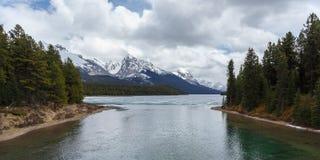 Lago escénico Maligne Imagen de archivo