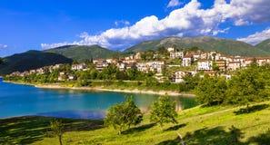 Lago escénico Turano, Itay Foto de archivo